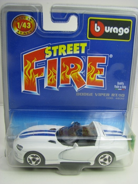 Dodge Viper RT/10 White Cod.4830 1:43 Bburago blister